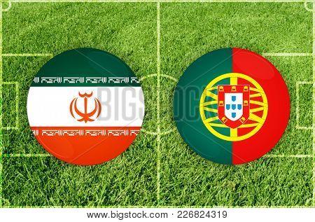 Illustration for Football match Iran vs Portugal