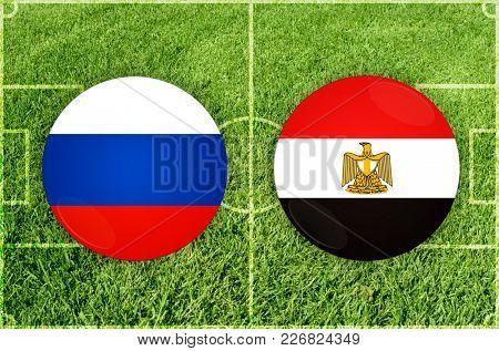 Illustration for Football match Russia vs Egypt