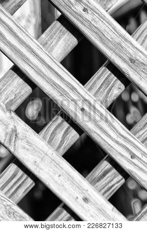 Abstract Texture Background Of A Grid Wood Surface