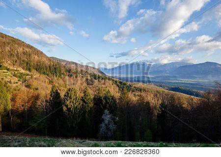 Karawanken Mountains In Slovenia