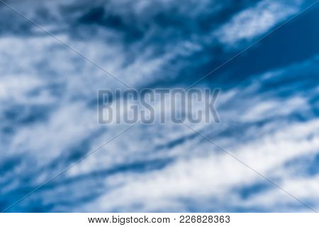 Blue Sky And White Clouds. Nature Abstraction