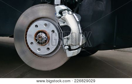 Close-up Of A Car Disc Brake