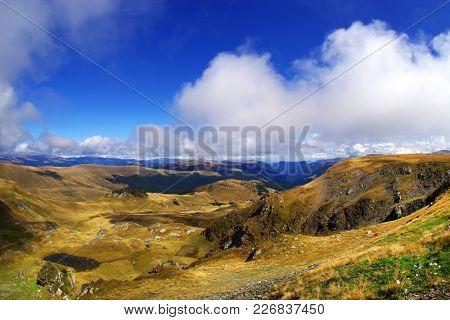 Beautiful mountain landscape of Parang Mountains in Romania
