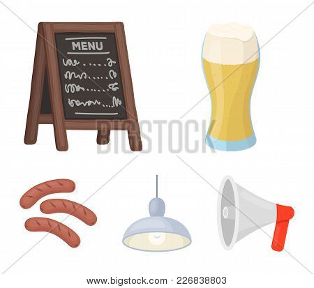 Restaurant, Cafe, Beer, Glass .pub Set Collection Icons In Cartoon Style Vector Symbol Stock Illustr
