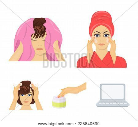 Cosmetic, Salon, Hygiene, And Other  Icon In Cartoon Style. Napkin, Hygienic, Hairdresser, Icons In