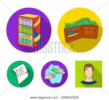 Purchase, Goods, Shopping, Showcase .supermarket Set Collection Icons In Flat Style Vector Symbol St