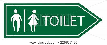Toilet Signage Vector Sign On White Background