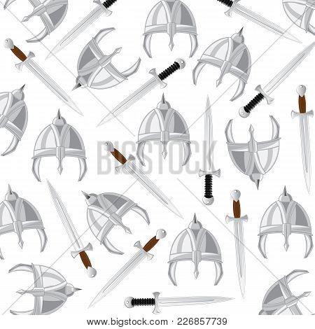 Send And Sword Pattern On White Background Is Insulated