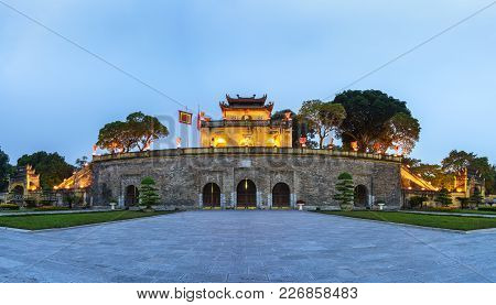 Panorama Central Sector Of Imperial Citadel Of Thang Long,the Cultural Complex Comprising The Royal