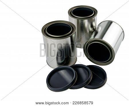 3 Single Quart Paint Cans And Lids