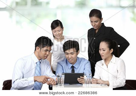Asian Business People Having A Meeting