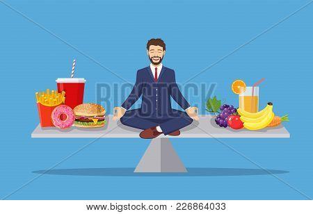 Man Balancing Between Vector & Photo (Free Trial) | Bigstock