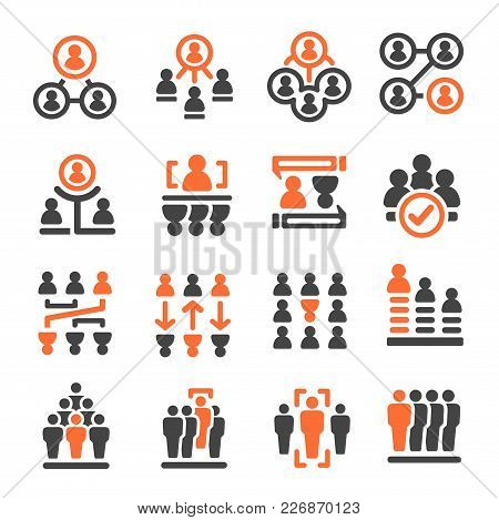 People Management And People Resource Icon Set