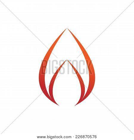Simple Swoosh Flame Fire Symbol Vector Illustration Graphic Design