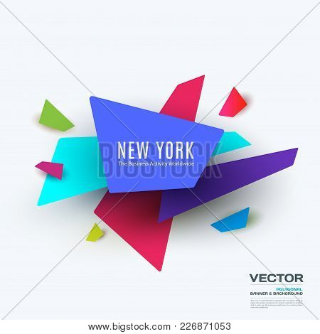 Abstract Vector Design Elements For Graphic Template. Creative Modern Business Background With Colou