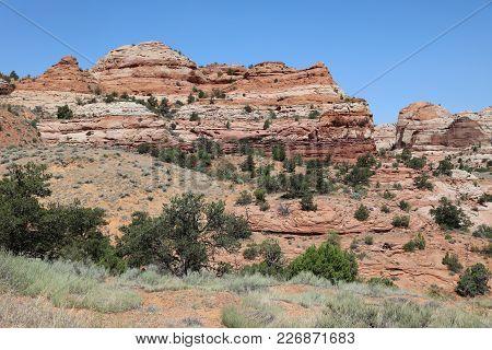 Landscape In Capitol Reef National Park In Utah. United States