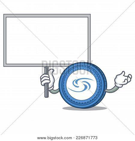 Bring Board Syscoin Character Cartoon Style Vector Illustration
