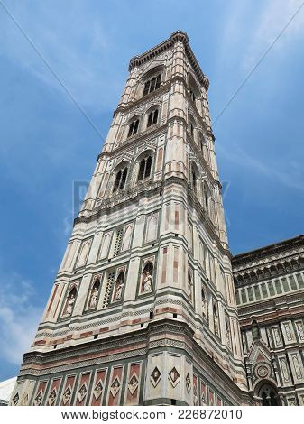 Italy, Toscana, Florence.piazza Del Duomo And Cathedral Santa Maria Del Fiore Tower