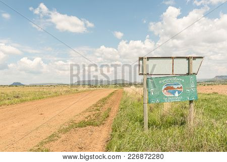 Excelsior, South Africa, February 11, 2018: The S356-road And Signboard At The Entrance To Korannabe