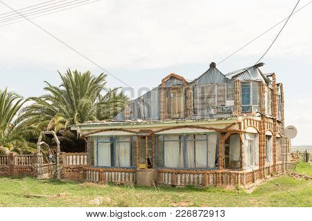 Excelsior, South Africa, February 11, 2018: A House, Built With Recycled Building Material, In Excel