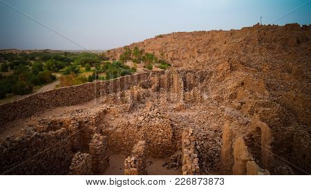 Ruins Of Ouadane Fortress In Sahara, Mauritania