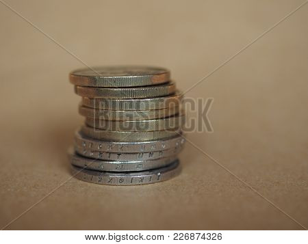 Euro Coins, European Union With Copy Space