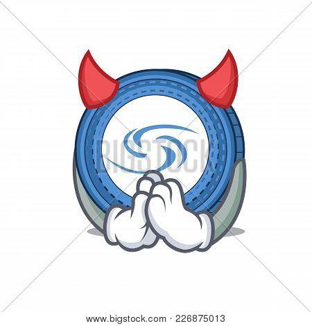 Devil Syscoin Mascot Cartoon Style Vector Illustration