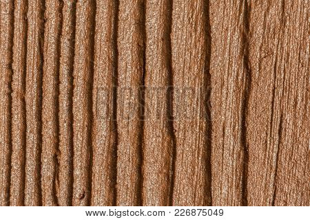 Decorative Plaster Imitating The Wood Texture, Abstract Background
