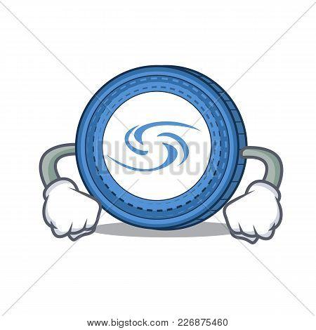 Angry Syscoin Mascot Cartoon Style Vector Illustration
