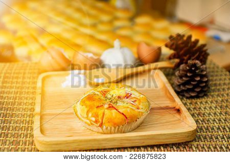 Bakery On The Background Of Bread, Industrial Production Of Bakery Products.