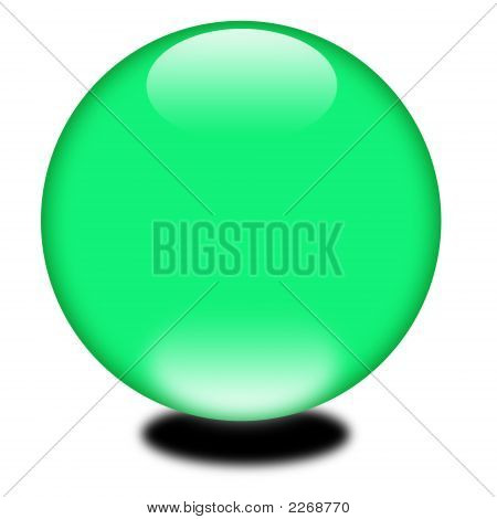 3D Holiday Green Sphere