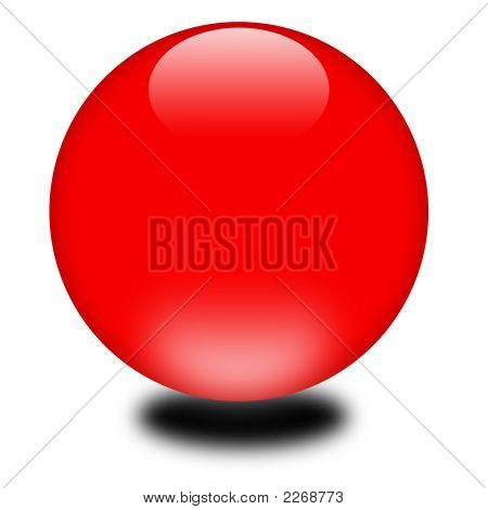 3D Holiday Red Sphere
