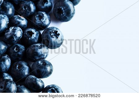 Group Of Blueberry Or Blueberries Fruit Isolated On White Background A