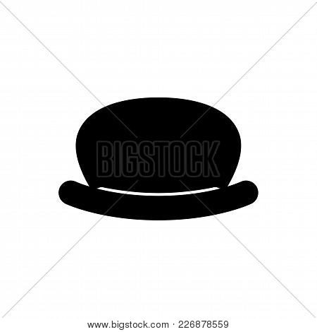 Black Retro Hat. Gentleman Style. Mister. Vector.