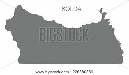 Kolda Map Of Senegal Grey Illustration Silhouette Shape