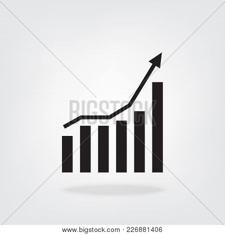 Business Charts With Arrow Vector Icon Illustration For Your Design