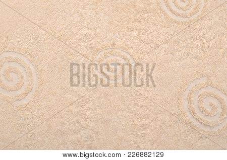 Yellow Towel Texture Or Background