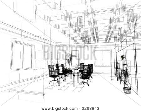 The Modern Office Sketch