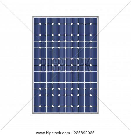 Solar Panel Innovative Equipment. Environmental Energy Resources Illustration.