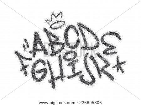 Handwritten Graffiti Font Alphabet. Artistic Hip Hop Typography Collection Part 1. Custom Vector Cal