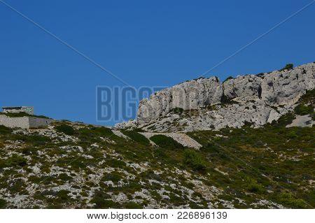 Zoom On The Mountains Around Marseille (les Goudes)