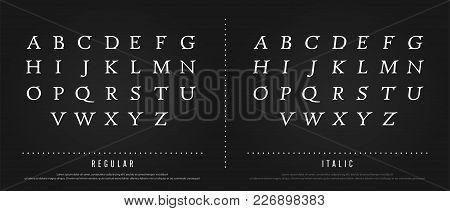 Classic Alphabet Letters Set. Exclusive Custom Letters. Alphabet Designs For Logo, Poster, Invitatio