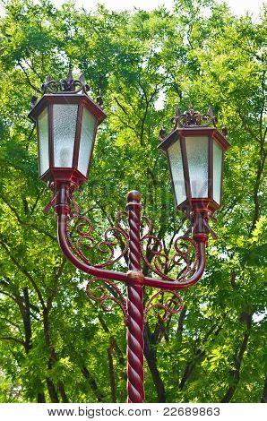 Street Lamp On A Pole