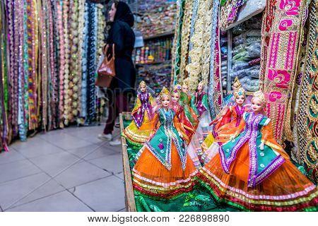 Shiraz, Iran - October 23, 2016: Dolls With Persian Costumes On Hagi Bazaar In Shiraz City