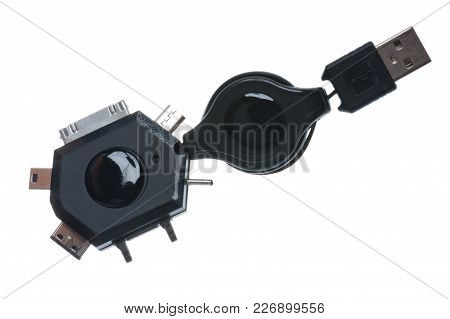 Mini Usb Adapter - Isolated On White