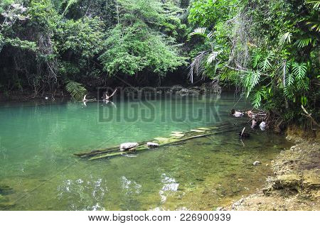 This Spot On Golden Stream In Southern Belize Is Used To Wash Clothes, Collect Water, And Play, By T