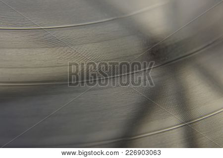 Macro Close Up Of Vinyl Record