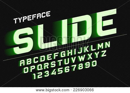 Vector Decorative Font Design, Alphabet, Typeface, Typography, Letters And Numbers. Swatch Color Con