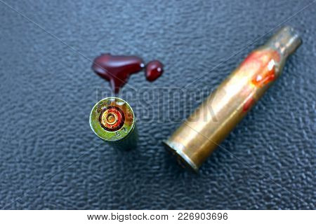 War Concept. The War In Syria Is The Consequences Of The War In The World. Military Bullet Shell Aft