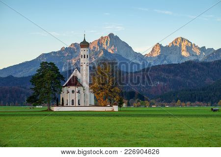 St. Coloman Church In Bavaria, Germany